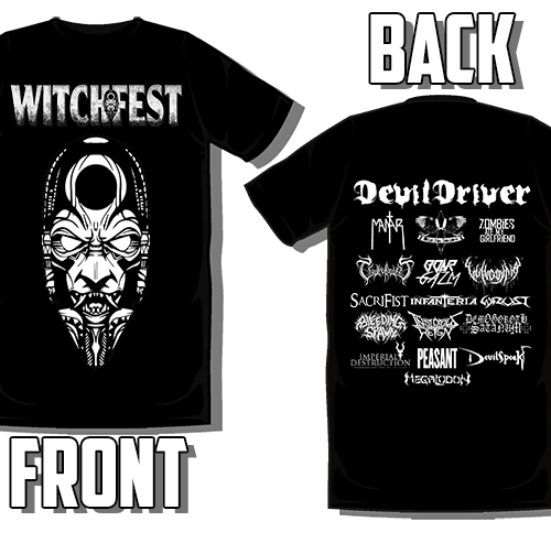 Witchfest 2017 – T Shirt – BW