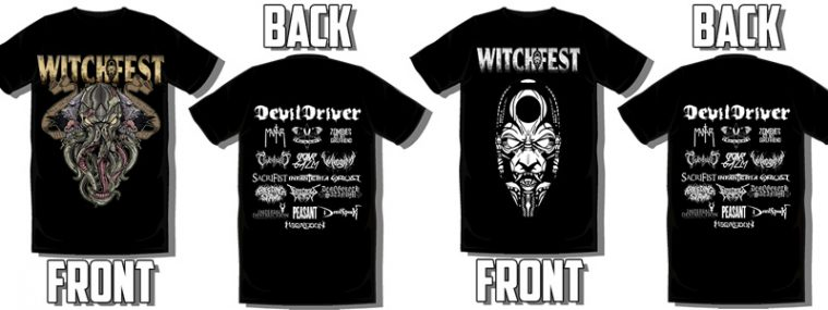 Witchfest 2017 T Shirt Pre Orders
